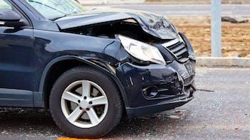 A fender bender after a car accident