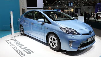 Toyota Prius in an international auto show