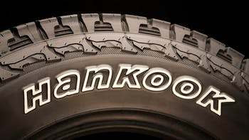 Hankook brand logo in a tire