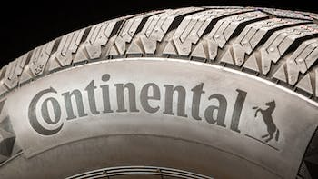 Continental tire logo on the side of the tire