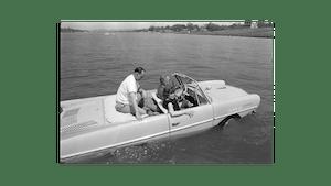 Duckboat in water