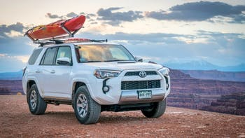 Toyota 4Runner with a kayak on a roof