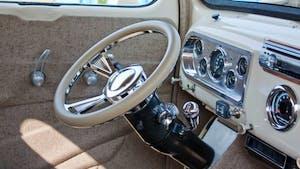 1950 Off White Ford Pickup Interior