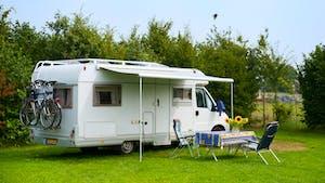 White Camping Mobile Van