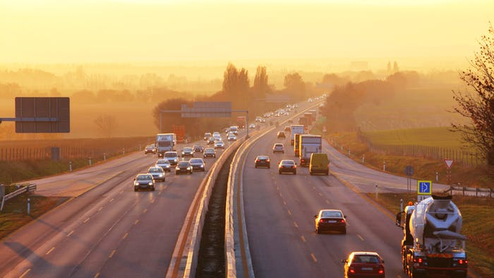 Traffic view in a highway