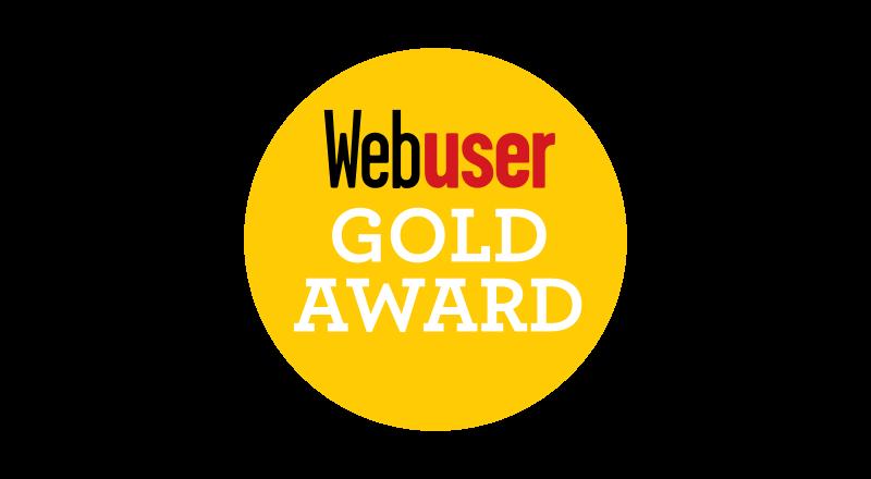 Web User Gold Award