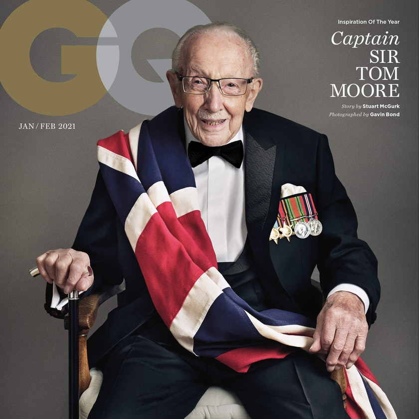 Captain Sir Tom Moore GQ cover