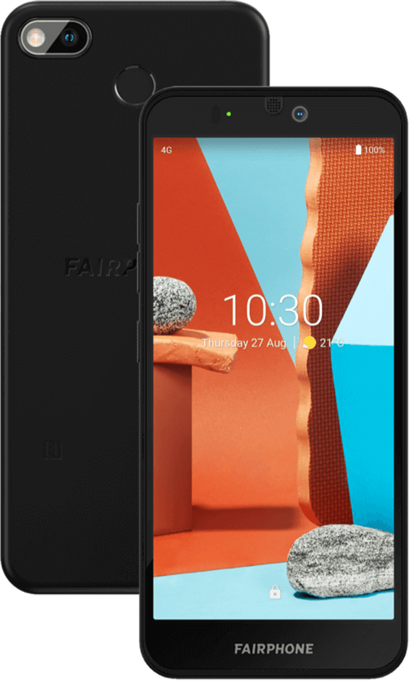 Front facing fairphone 3 plus