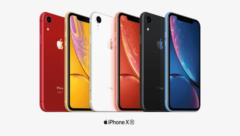 iPhone Xr models front and back different colours