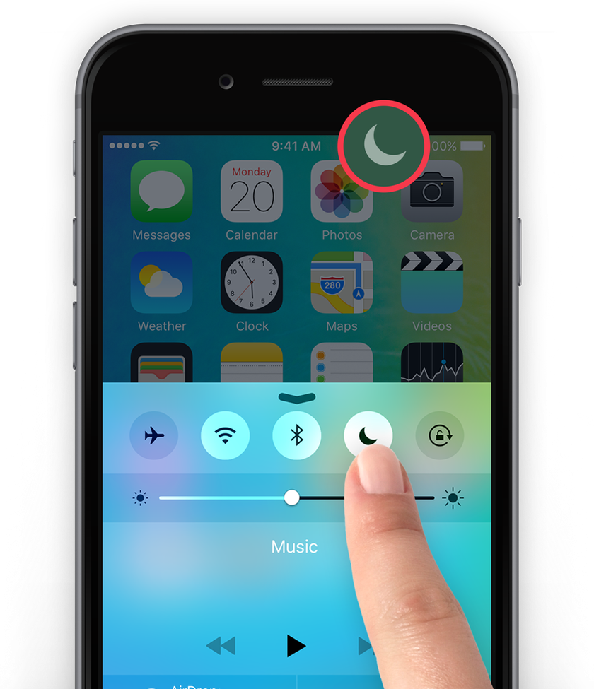 Do Not Disturb on iPhone home screen