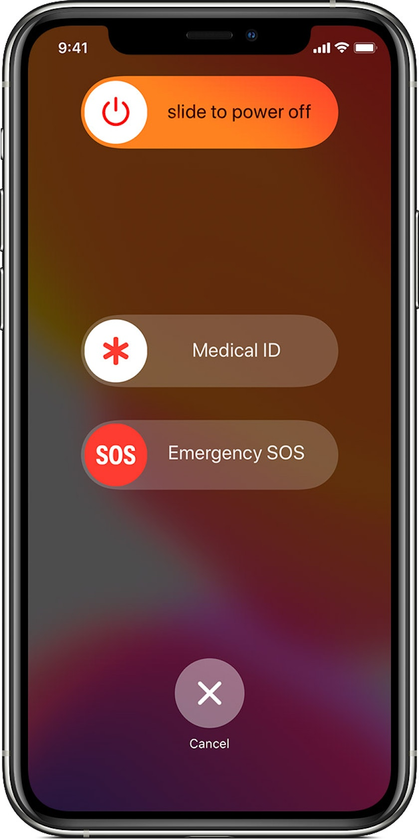 Emergency SOS feature on an iPhone