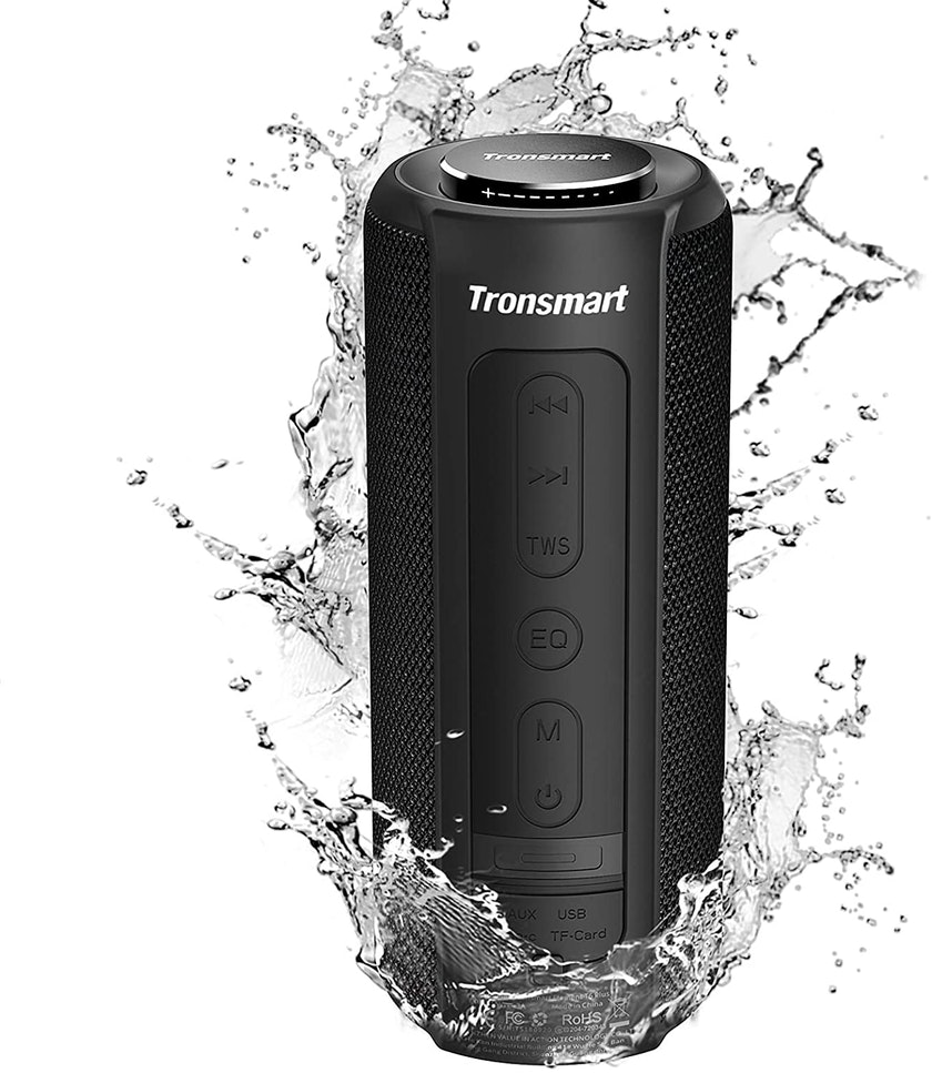 Black Tronsmart T6 Plus in water
