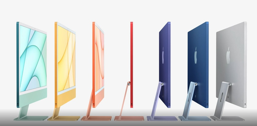 All colours of the new Apple iMac 2021