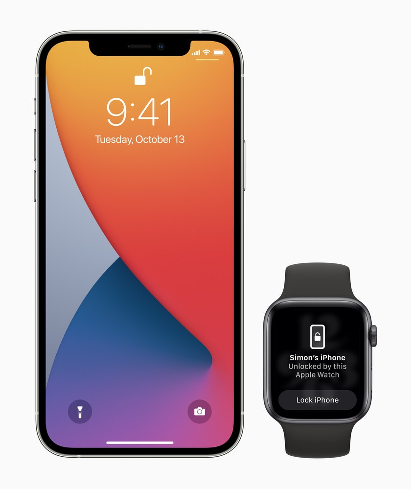 iOS 14.5 now lets to unlock your iPhone with Apple Watch