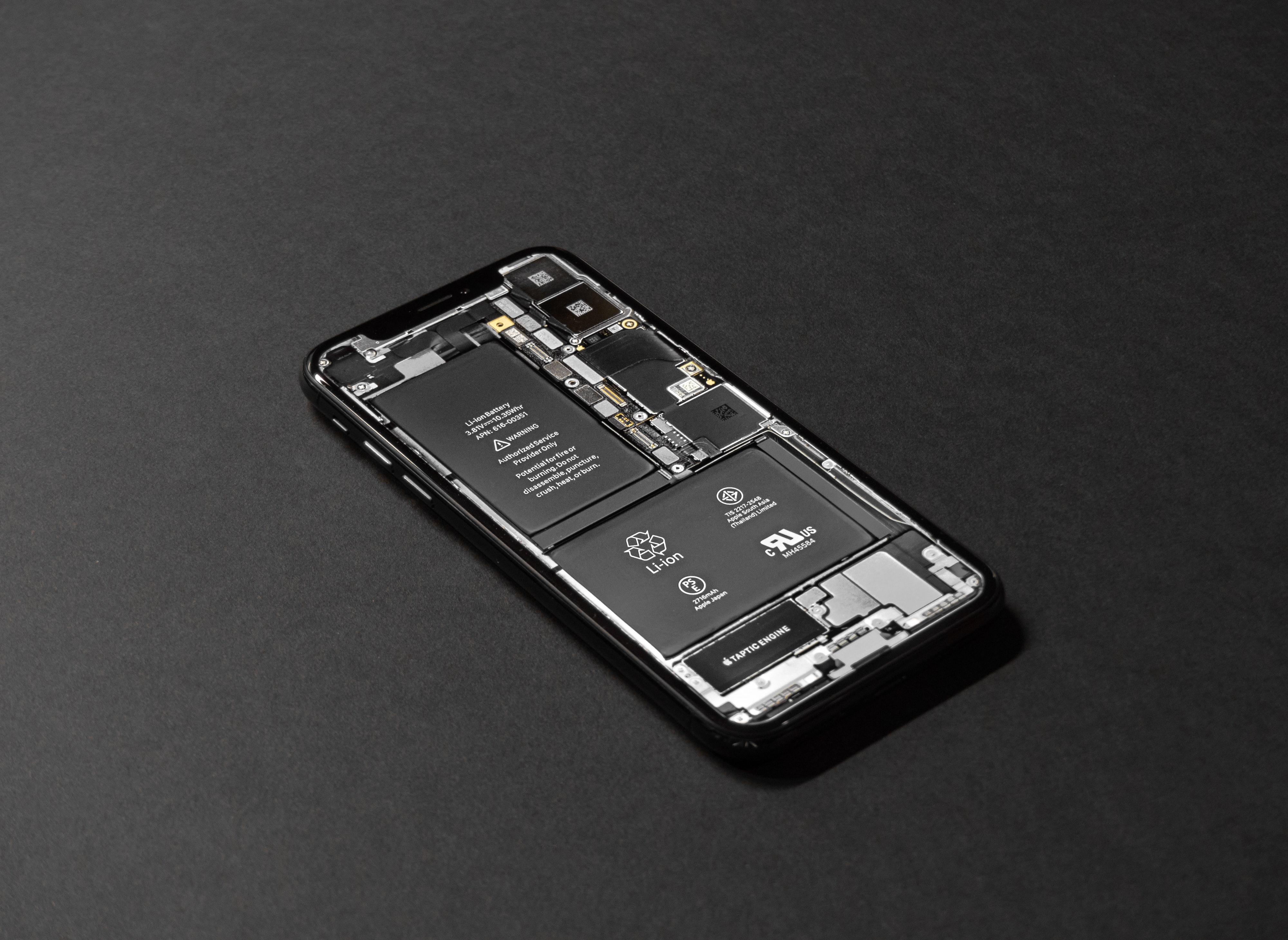 Inner components of an iPhone X