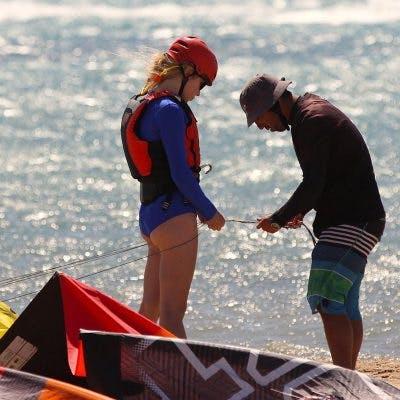 kitesurfing in Pounta