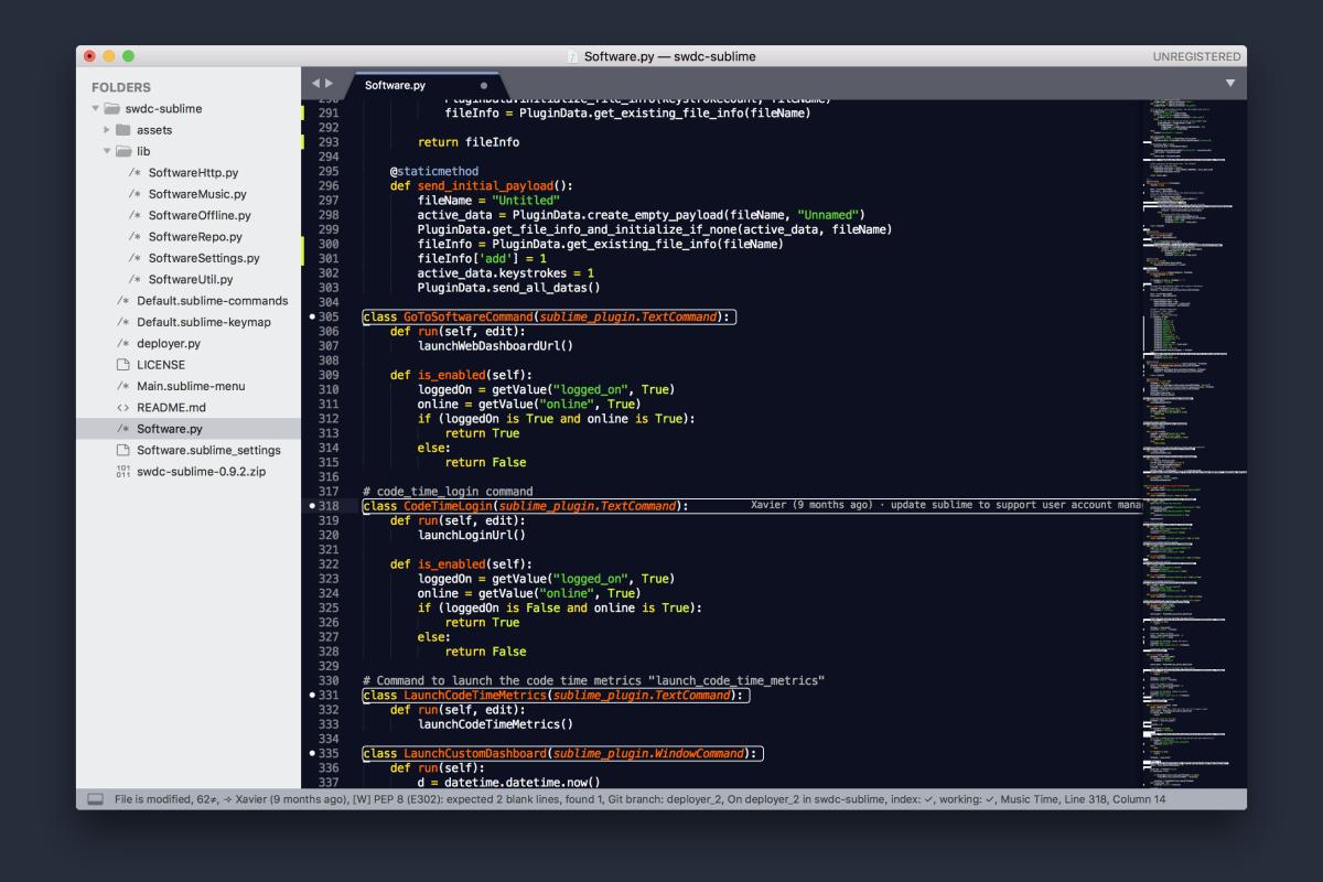 Sublime Text Git Blame annotation using GitGutter