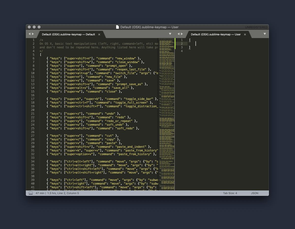 Sublime Text keybindings