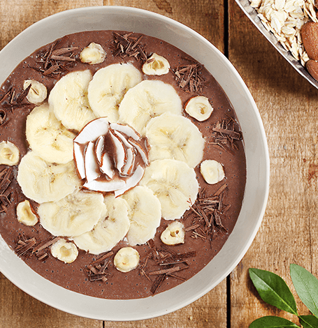 recette : Smoothie bowl chocolat