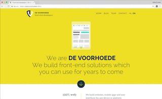Our website on voorhoede.nl