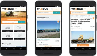 Tradus.com on an Android device