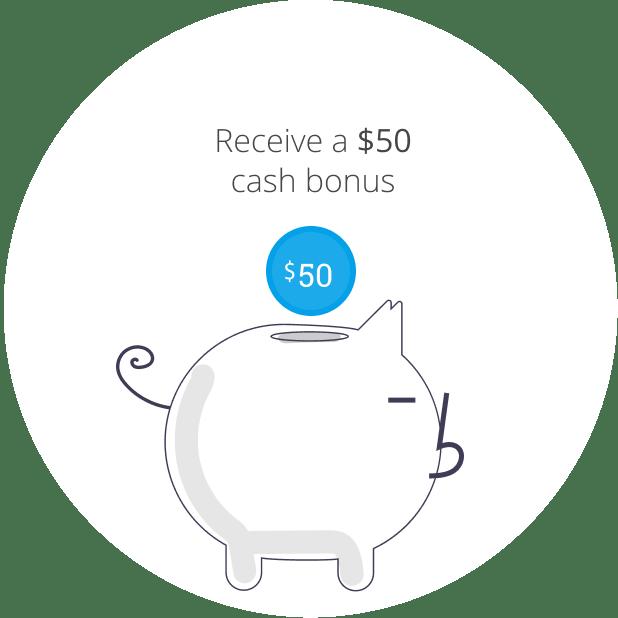 $50 Everday bonus cash