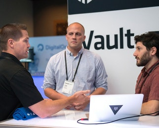 3 people discussing Vault at HashiConf 2017.