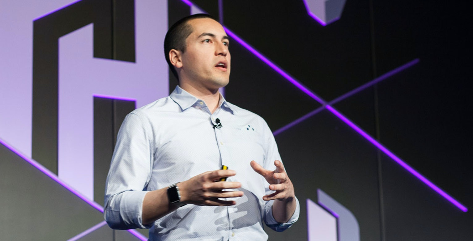 Mitchell Hashimoto presenting at HashiConf 2017.