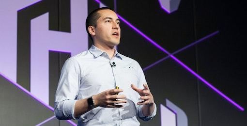 Mitchell Hashimoto presenting at HashiConf 2017.