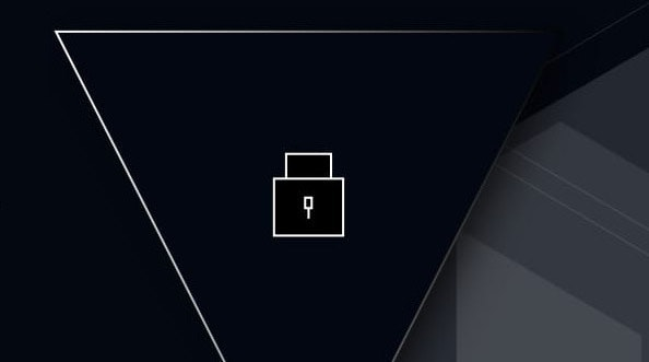 A padlock icon in a Vault triangle logo