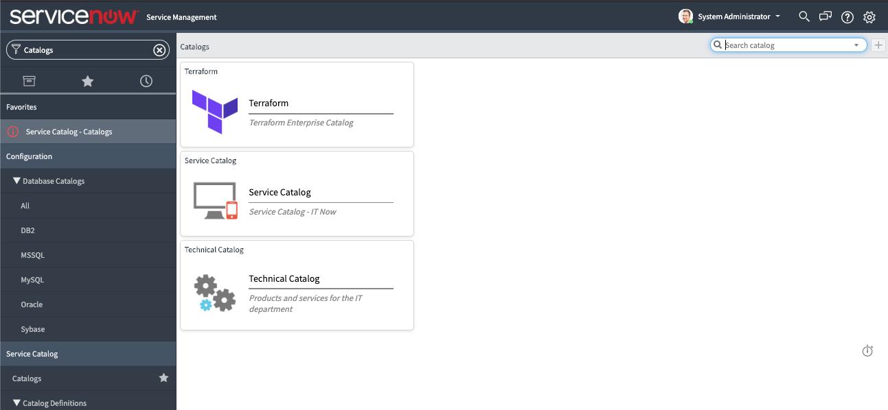 ServiceNow Service Catalog