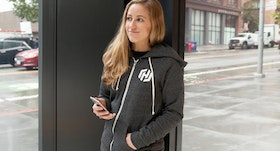 HashiCorp employee wearing a branded hoodie