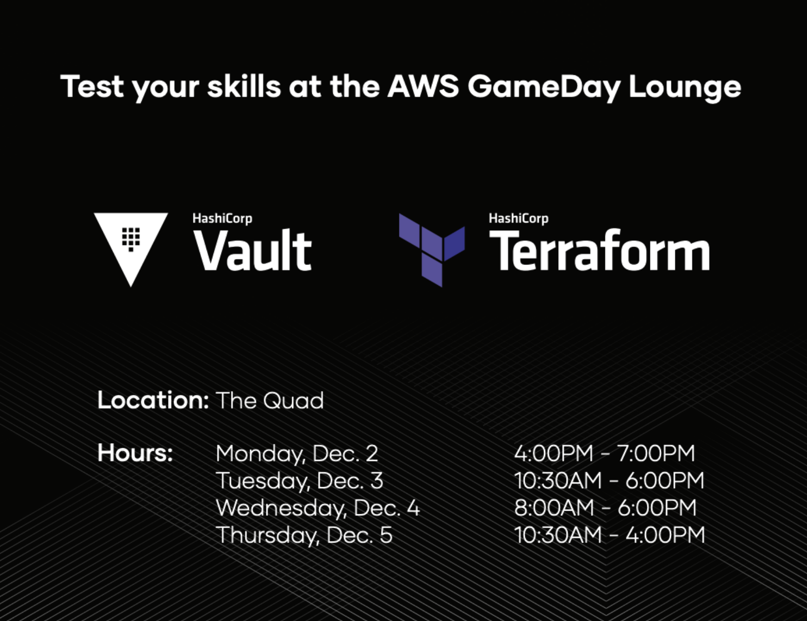 AWS Gameday Schedule