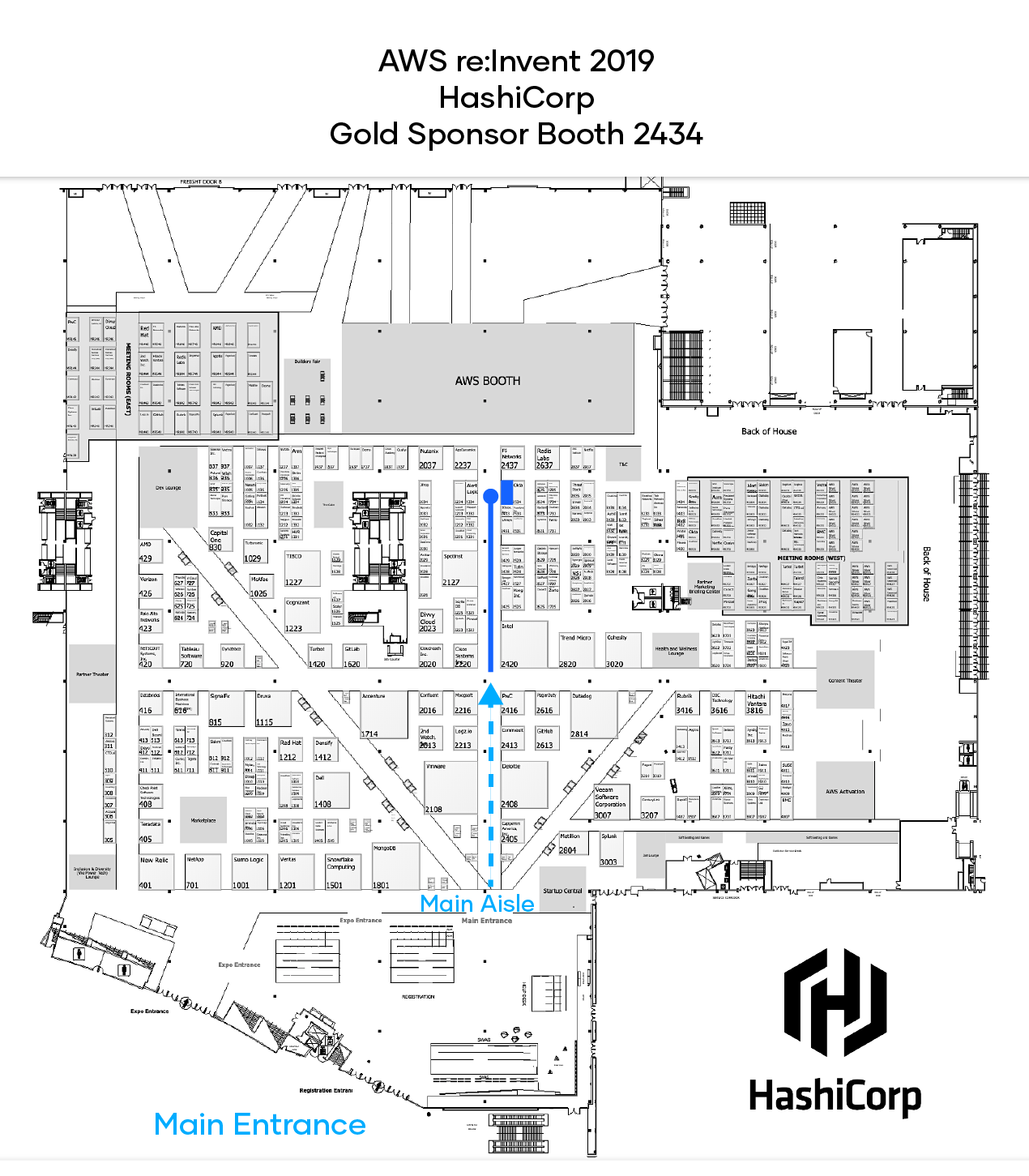 re:Invent expo floor map