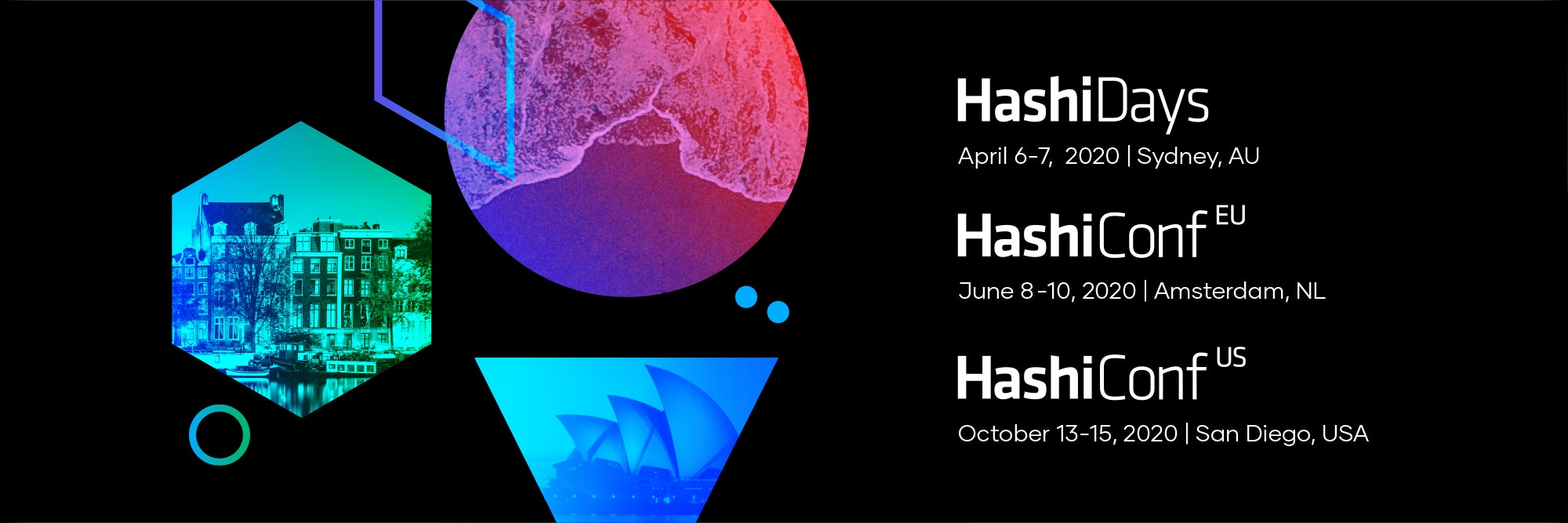 San Diego, Amsterdam, and Sydney - HashiCorp community conferences are going global