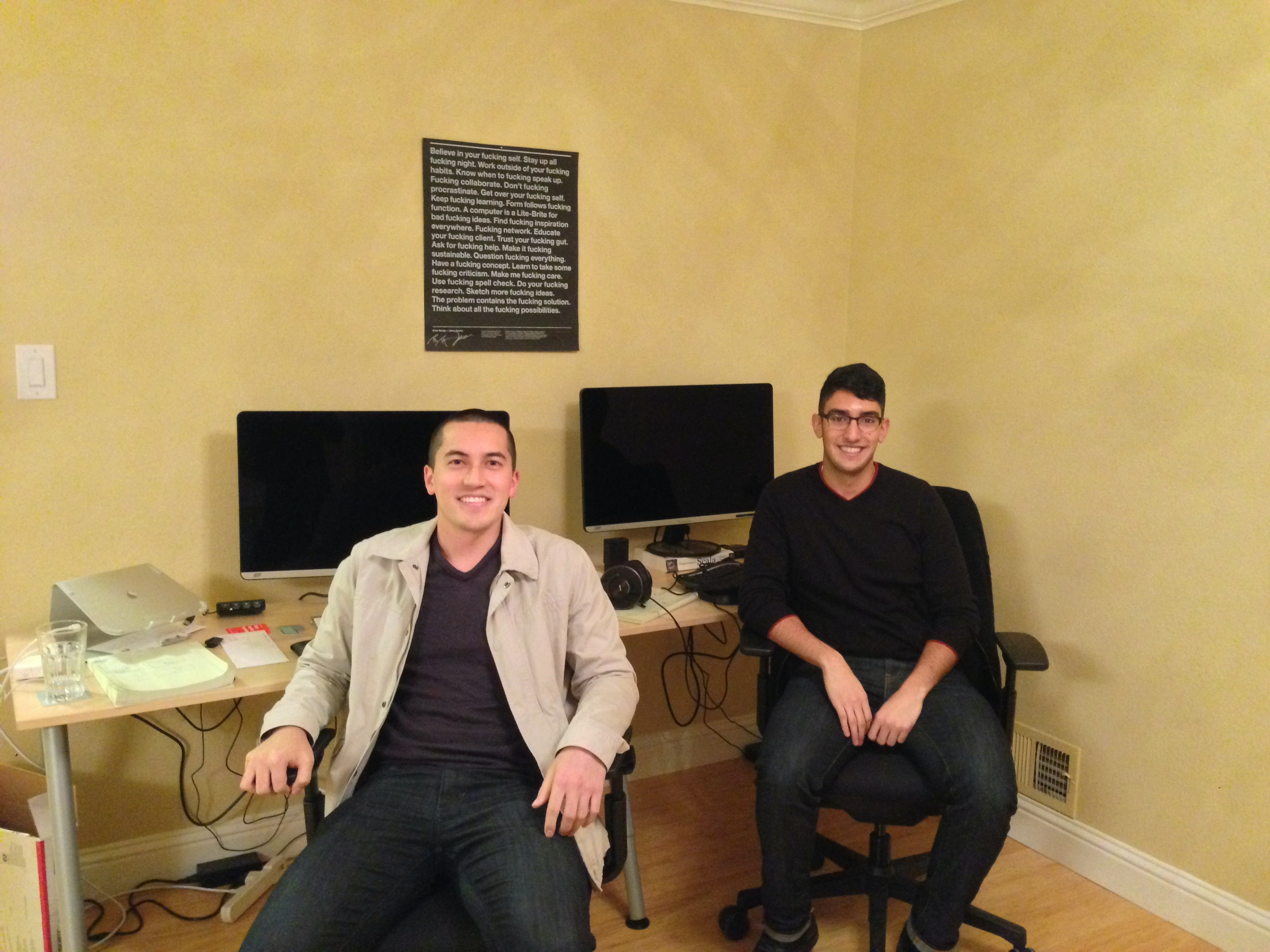 HashiCorp was founded in 2012 by Mitchell Hashimoto and Armon Dadgar. Until 2014, they were the only employees and worked out of the company's first HQ, Armon's living room.