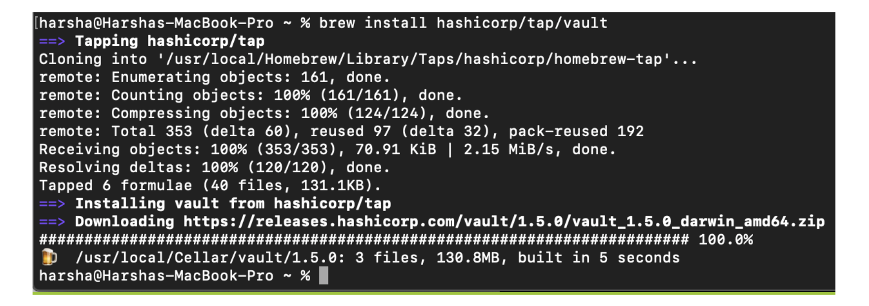 Homebrew tap being used in command line