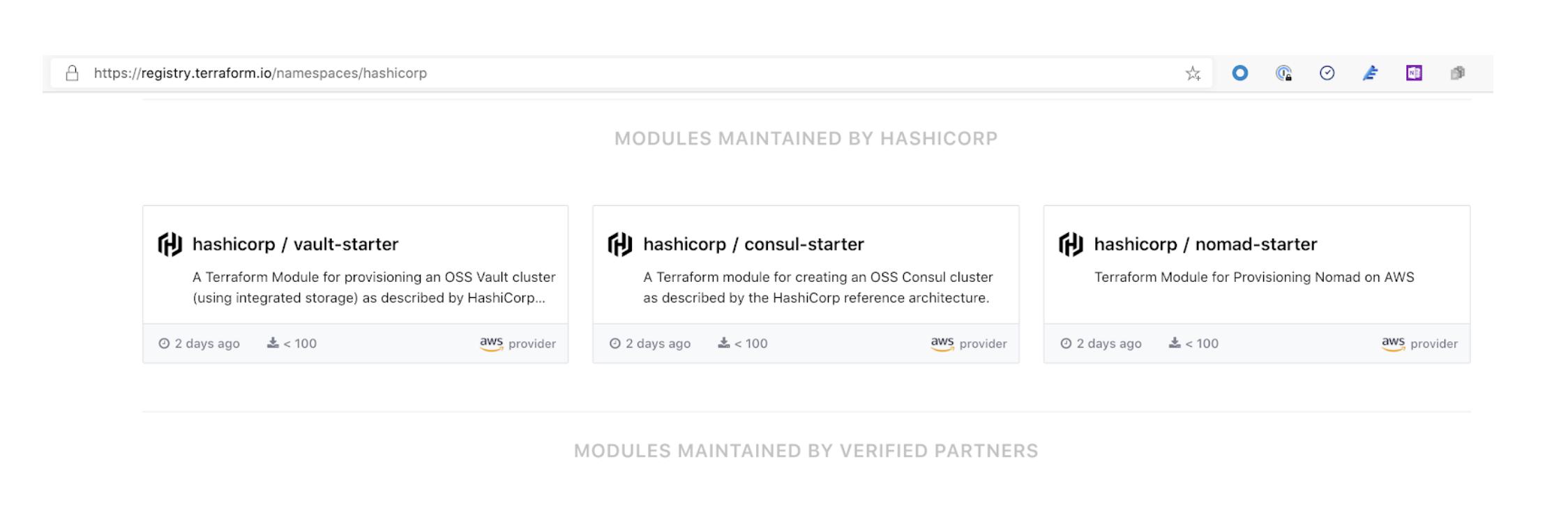Quickstart modules