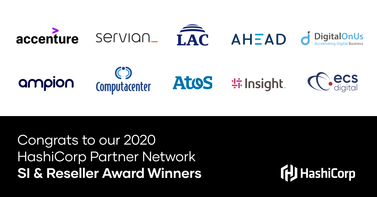 Announcing the 2020 HashiCorp SI & Reseller Partner Network Winners