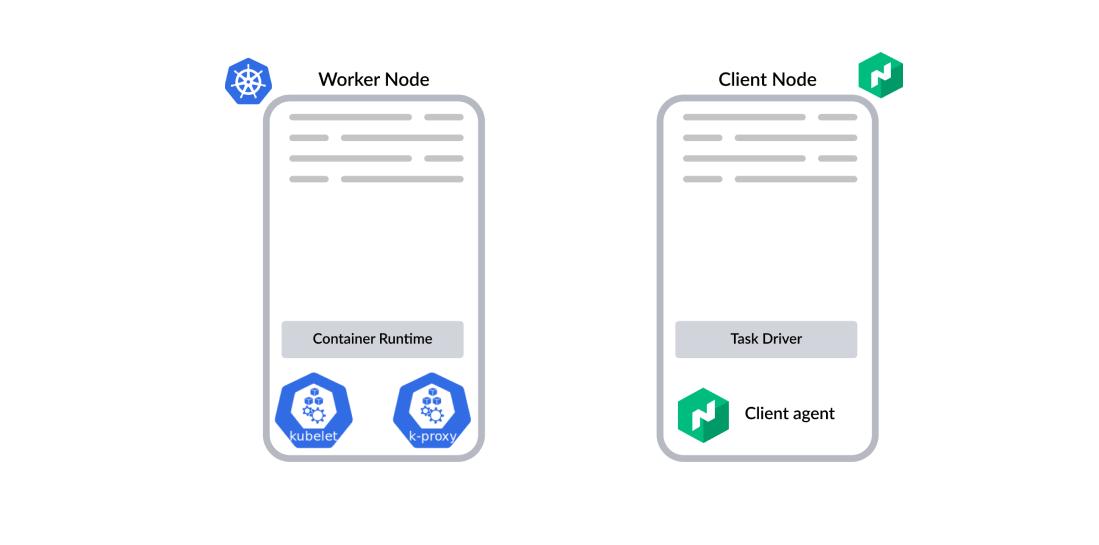 K8s worker node and Nomad client node