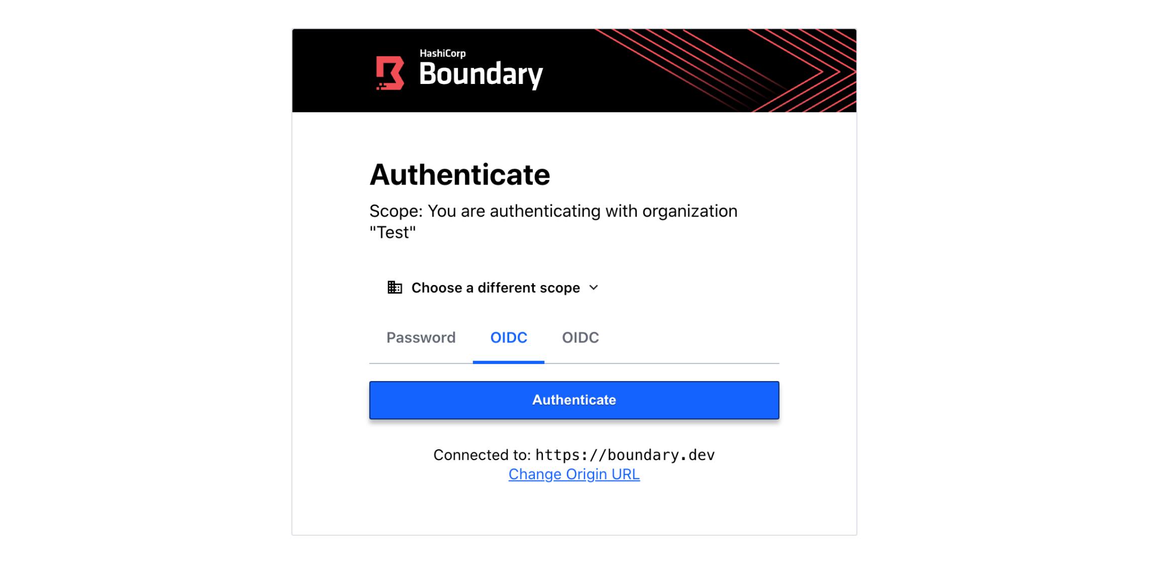 Boundary OIDC window