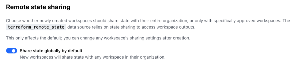Remote state sharing