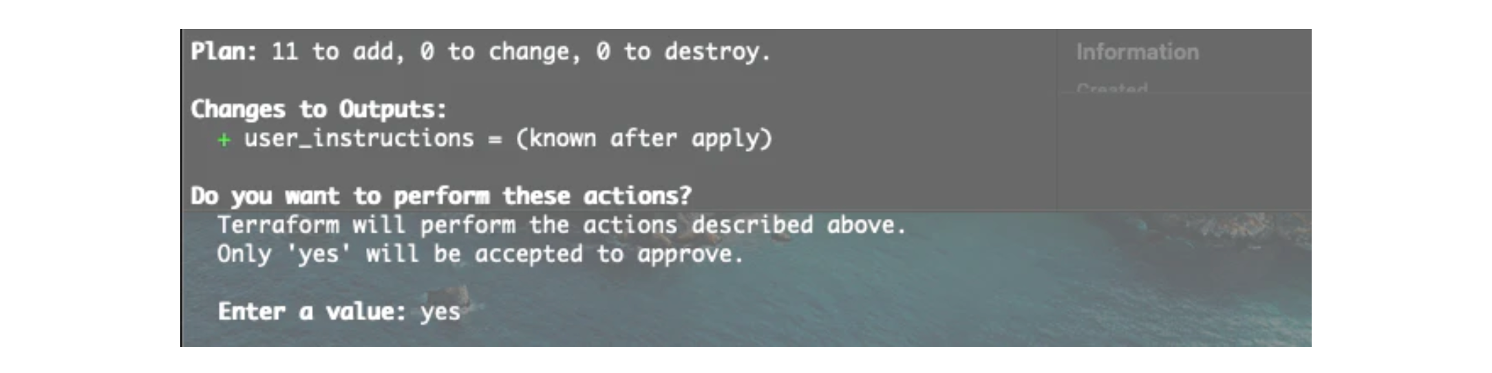 Confirm actions