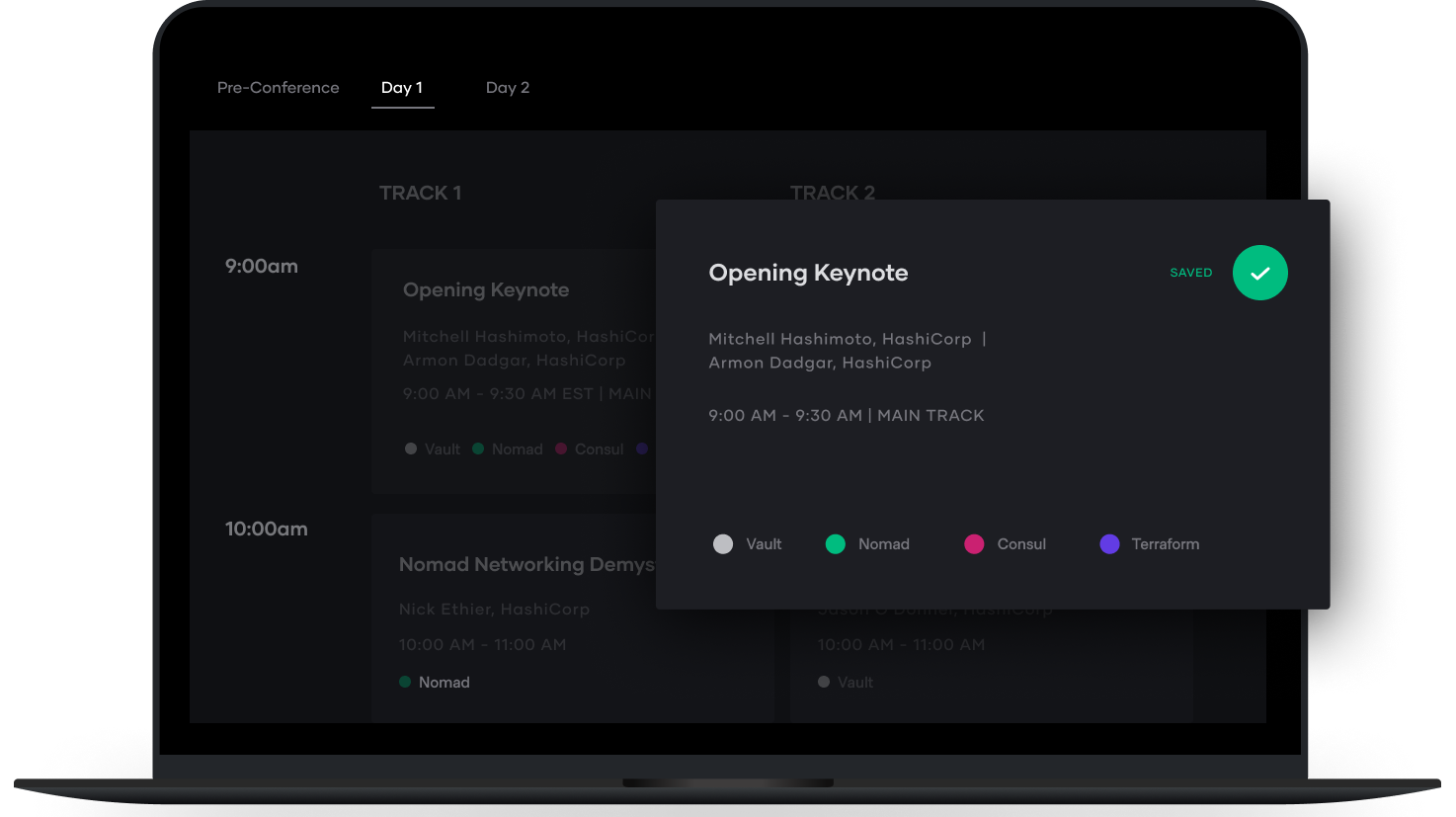 Log in to the HashiConf Europe platform
