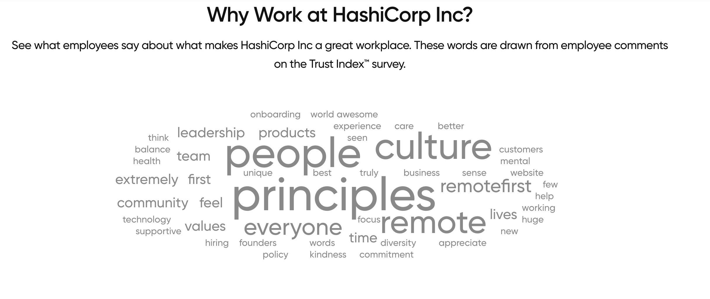 Why Work at HashiCorp employee responses