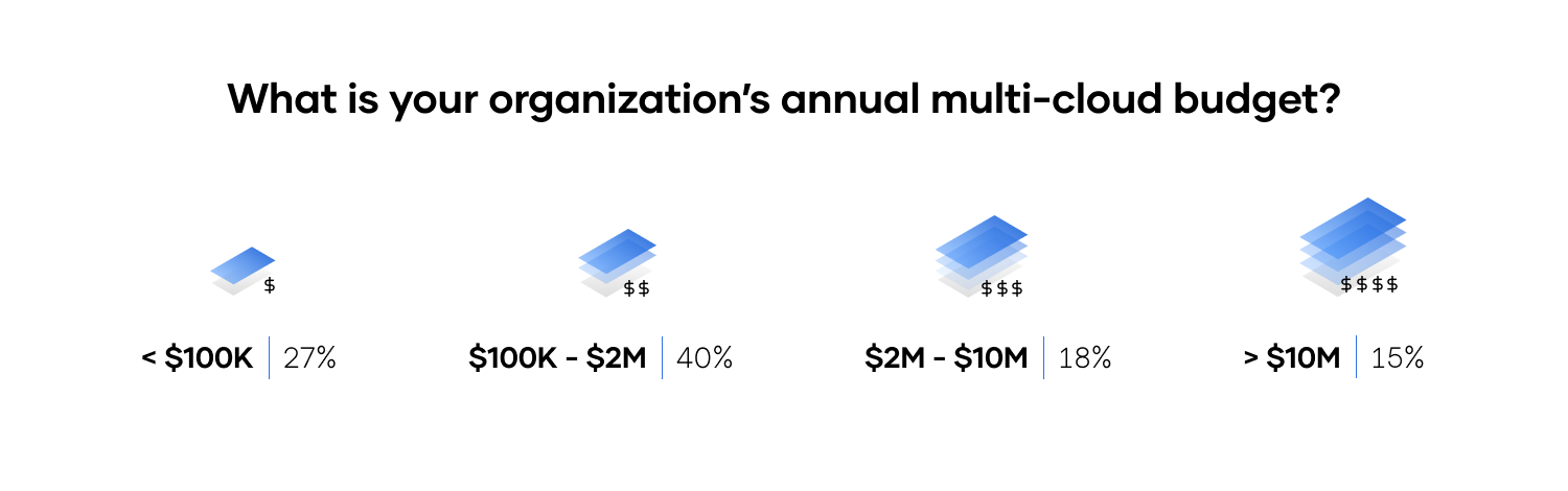 What is your organization's annual multi-cloud budget?