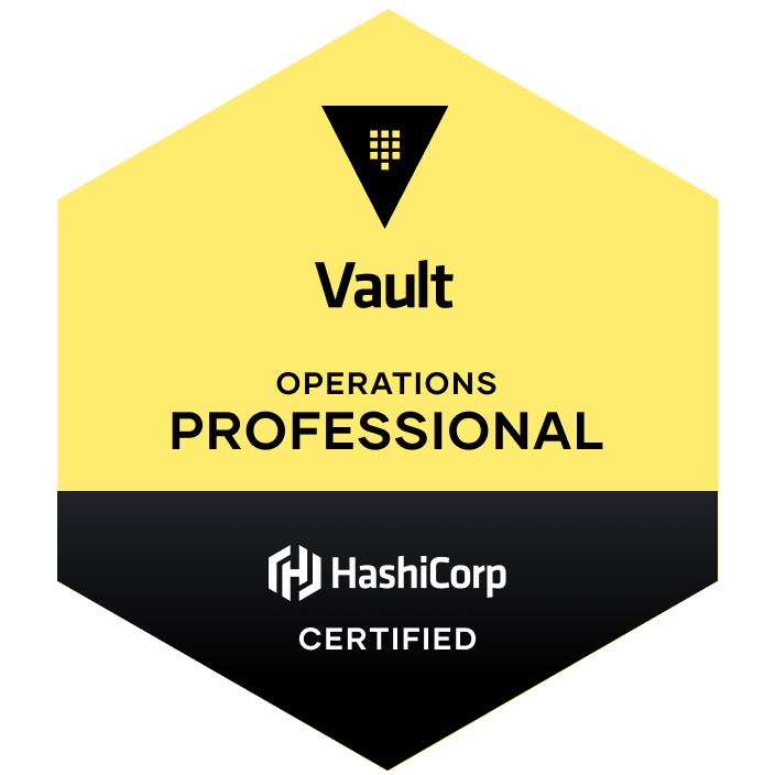 Badge for HashiCorp Certified: Vault Operations Professional