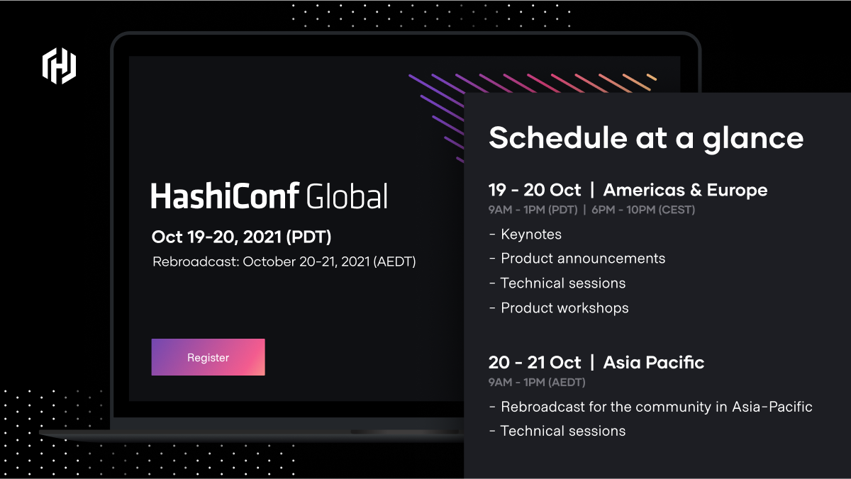 The HashiConf schedule at a glance