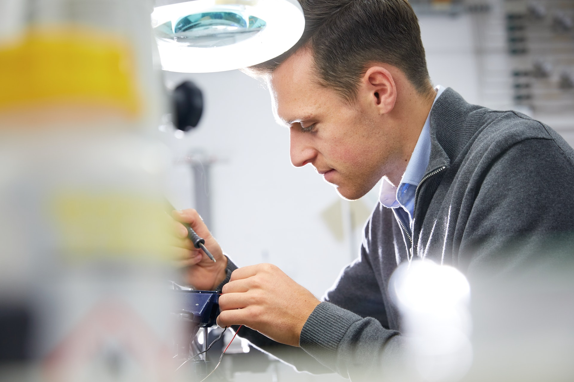 Cambustion engineer soldering