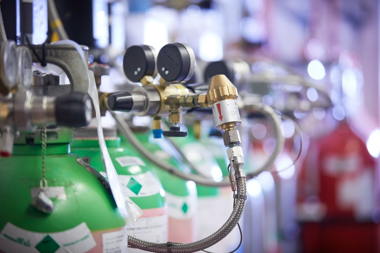 Calibration gas bottles